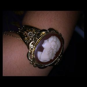 Antique Cameo Cuff Bracelet
